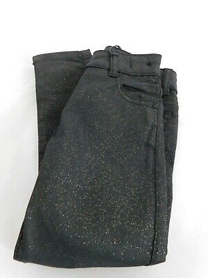 New Girls Jeans Black Glitter Sparkly Age 3-4 Years Free P&P