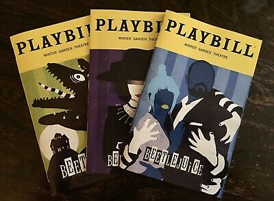 Beetlejuice Broadway Musical 3 SPECIAL Playbills October, January, & February!