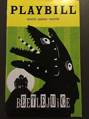 Beetlejuice Broadway October 2019 limited edition sandworm playbill