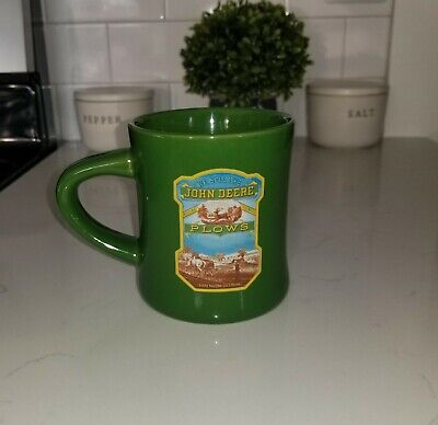 ~Green John Deere Plows Coffee Mug~Excellent Mug~