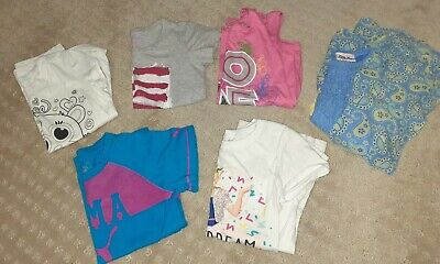 Lot of Girls shirts sz 6/6x, Puma,Justice,Levis,Little Lass,pink dot,Nickelodeon