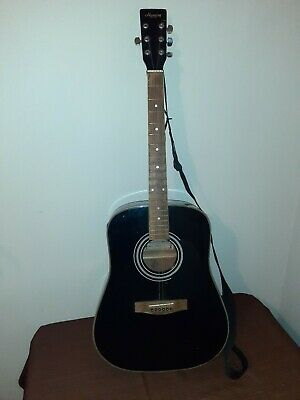VINTAGE Harmony Dreadnought Acoustic Guitar Modified Tenor 4 String Model 01008