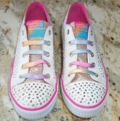 Skechers Twinkle Toes Limited Edition Shuffles Twirly Toes Light-Up Sneakers 4