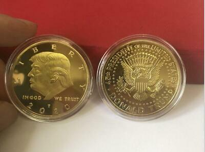 2020 President Donald Trump Gold Plated EAGLE Commemorative Coins Novelty