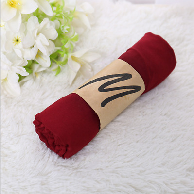 Fashion Hot Wine Red Style Ladies Womens Scarves Long Cotton Scarf Wraps Shawl