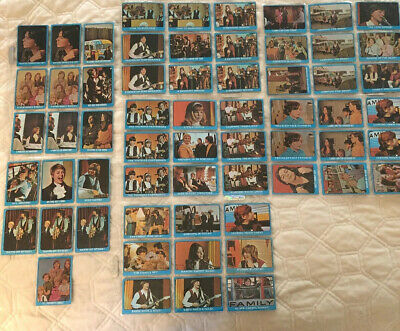 Partridge Family Collectible Cards Lot 80! Topps Yellow, Green, Blue '70/'71 Vtg