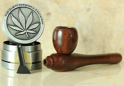 Esquisite Hand Crafted Smoking Pipe Tobacco Premium Wood Pipe pot m Herb Grinder