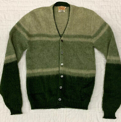 Vintage Sarby Virgin Wool And Mohair Cardigan- Mens Size Medium