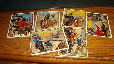 Lot of 6 1910 T53 Hassan Cigarettes Cowboy Series Cards
