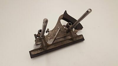 Ornate Stanley 143 Sweet Heart USA Plough Plane Plus Blades 23433