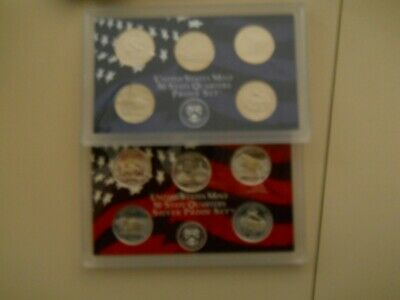 2006-S PROOF CLAD AND SILVER QUARTER SETS. NO BOXES OR COAs. SHADOWS.   ####
