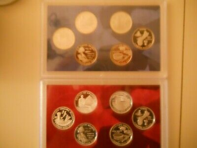 2009-S PROOF CLAD AND SILVER QUARTER SETS. NO BOXES OR COAs. ####
