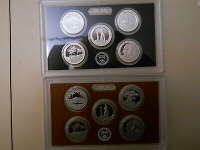 2013-S PROOF CLAD AND SILVER QUARTER SETS. NO BOXES OR COAs. ####