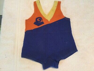 1920's - 30's Wool Child's Bathing Suit
