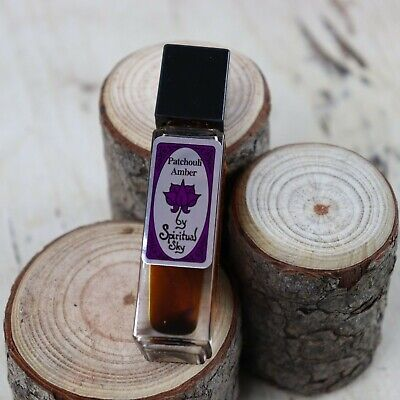 """Patchouli Amber"" Spiritual Sky Body Perfume Oil 8ml Bottle"