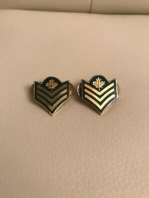 CANADA Armed Forces CANADIAN ARMY MASTER CORPORAL collar bar dog sweetheart pins