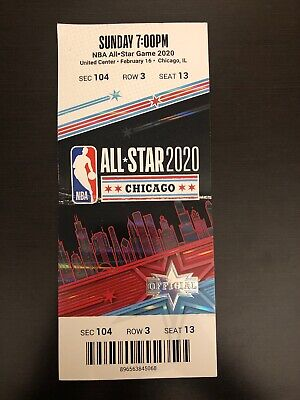 2020 NBA All Star Game Basketball Ticket Stub Kobe Bryant Chicago