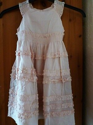 Girls Salmon Pink Lined  Dress age 4  years by Vertbaudet nwt