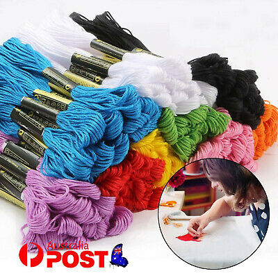 Sewing Thread Egyptian Cotton Embroidery Cross Stitch Floss Hand Skeins -50color