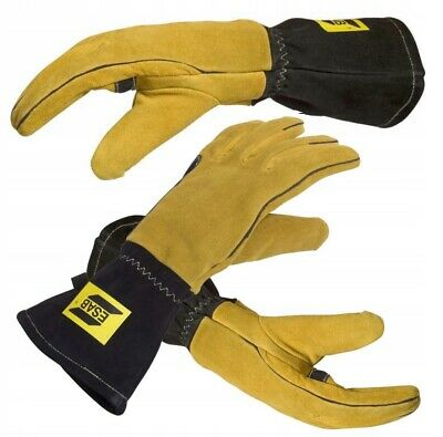 Professional ESAB Welding Gloves MMA MIG TIG Curved 10/XL Normal size Gauntlets