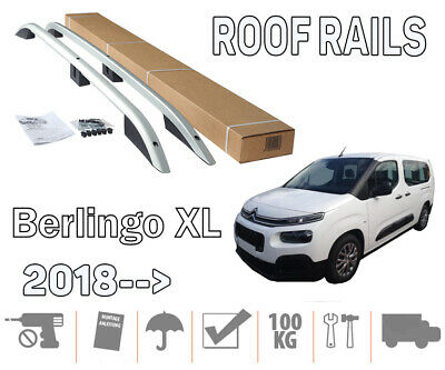 Barres de toit longitudinales Citroen Berlingo III long 2018> aluminium