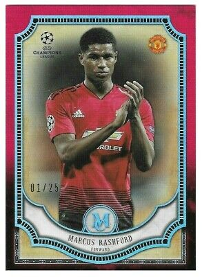 2018-19 TOPPS Champions League Museum Marcus Rashford Man Utd Red SP Card # /25