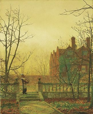 John Atkinson Grimshaw The Strand 1899 Painting Poster Fine Art Print A4