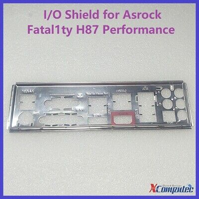 I/O IO Shield Back Plate Panel For Asrock Fatal1ty H87 Performance Motherboard