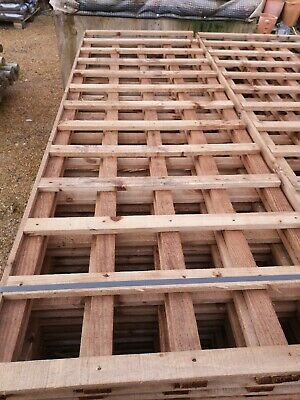 Wooden Trellis panels 2' x 6'  610mm x 1829m pressure treated trellis and topped