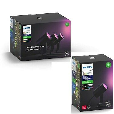 Philips Hue Lily White & Colour Ambiance LED 4x Spotlight Smart Outdoor Lighting