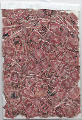 1864 /1879 Over 1000 1d rose/lake red stamps (1d plates)