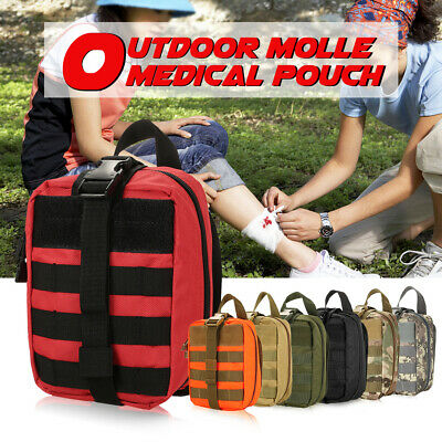 Lixada Outdoor MOLLE Medical Pouch First Aid Kit Utility Bag Emergency K8Y9