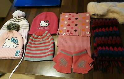 Girl's Hat Scarf & Gloves Bundle - Aged 4-8 Years - Joules, Monsoon & More