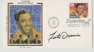 Fats Domino signed Clyde McPhatter 1993 FDayCover.UACC RD retirement sale