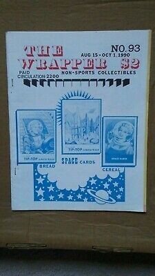 The Wrapper magazine #93 August 1990  TIP-TOP SPACE CARDS cover EX condition