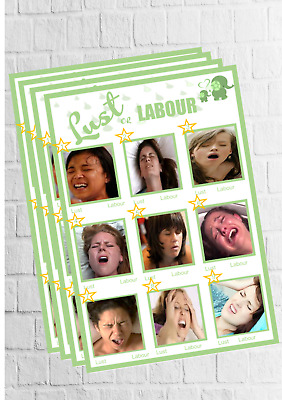 Lust Or Labour Game - Baby Shower -  Unisex