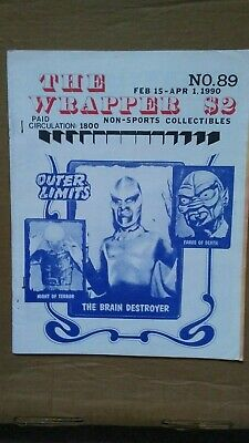 The Wrapper magazine #89 February 1990 OUTER LIMITS cover EX condition