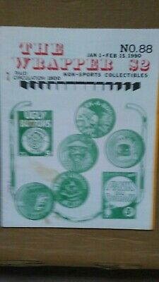 The Wrapper magazine #88 January 1990 UGLY BUTTONS cover EX condition