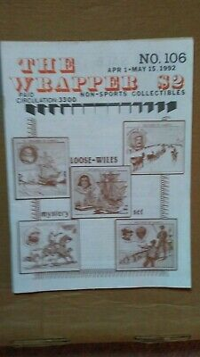 The Wrapper magazine #106 April 1992 LOOSE-WILES mystery set cover EX condition
