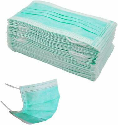 Disposable Surgical Face Mask Dental Dust Flu Virus Mouth 3 Ply & Ear Loop Masks