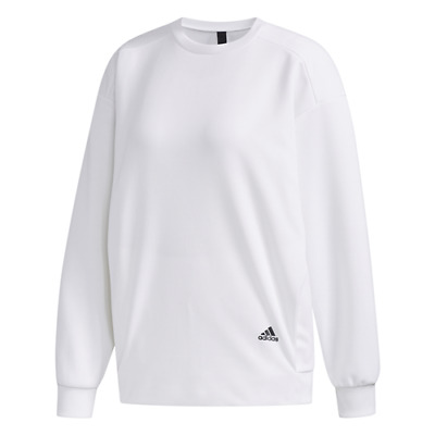 ADIDAS MUST HAVE CREW W FELPA GIROCOLLO DA DONNA white