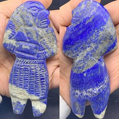 300 BC  uniqueSouth Asia Ancient Backtrian King  lapis lazuli Stone Statue #103