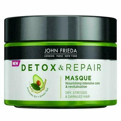 2 JARS John Frieda Detox & Repair Masque for Dry Stressed Damaged Hair 250ml x2