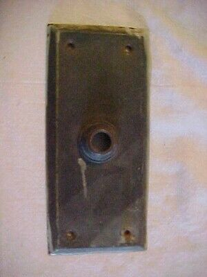 Antique Turn of the Century Brass Electric Door Bell PLATE Circa 1910