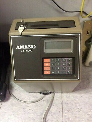 Amano Computerized Employee Time Clock MJR-8000 - Excellent condition