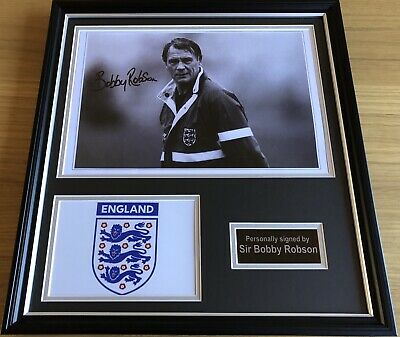 Sir Bobby Robson England Manager Hand Signed Football Display