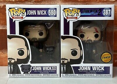 Funko Pop! Movies John Wick 2 Bloody Chase And John Wick With Dog Bundle