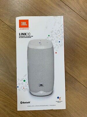 JBL Link 10 Portable Wireless Bluetooth Voice Activated Speaker White