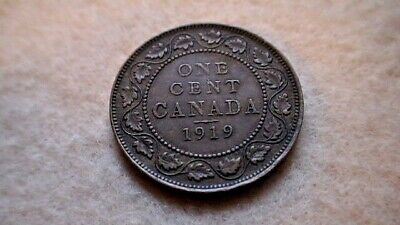 1919 Canada 1 One Cent Copper Penny