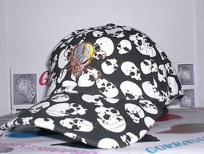 Gorra Fashion Calaveras Bordada 6 Paneles 100% Algodon !Un Chollo¡